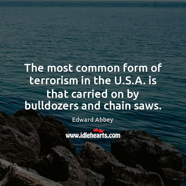 The most common form of terrorism in the U.S.A. is Image