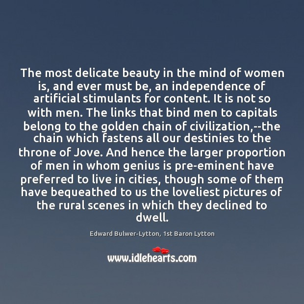Image, The most delicate beauty in the mind of women is, and ever
