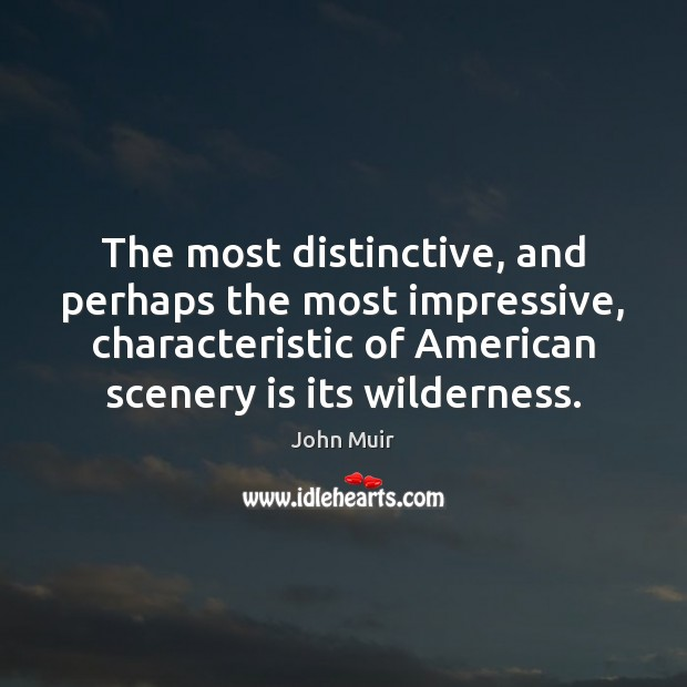 Image, The most distinctive, and perhaps the most impressive, characteristic of American scenery