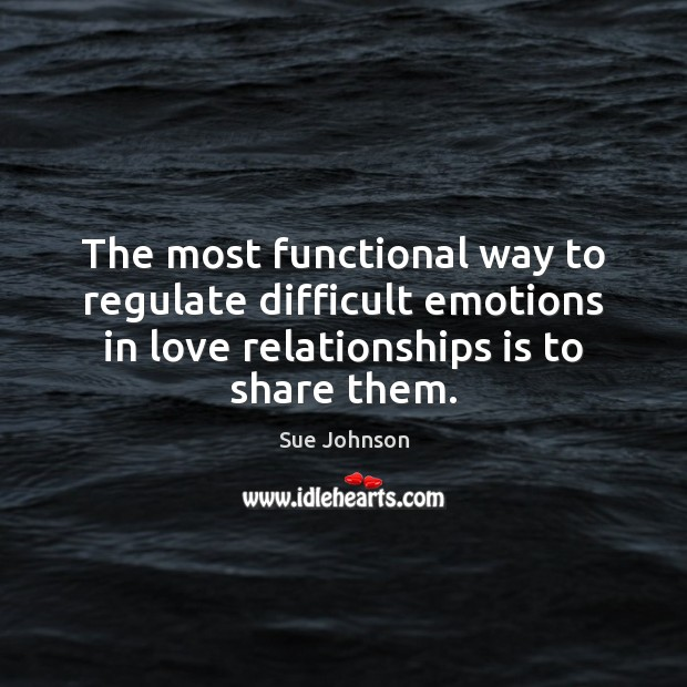 The most functional way to regulate difficult emotions in love relationships is Image