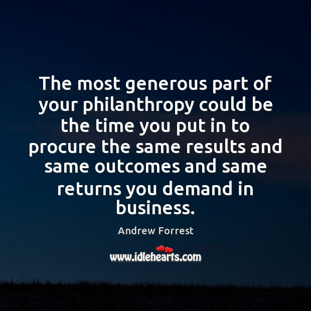Image, The most generous part of your philanthropy could be the time you