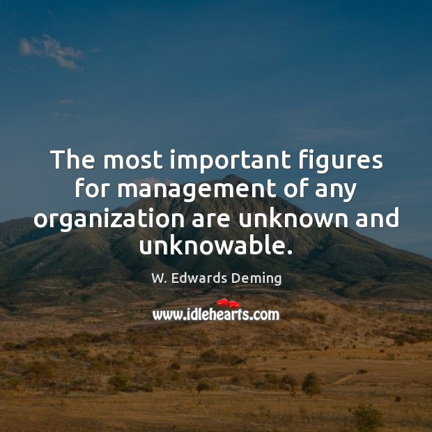 The most important figures for management of any organization are unknown and unknowable. Image