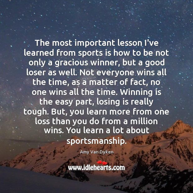 Image, The most important lesson I've learned from sports is how to be