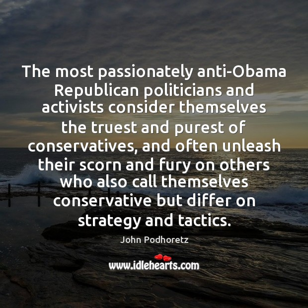 The most passionately anti-Obama Republican politicians and activists consider themselves the truest Image