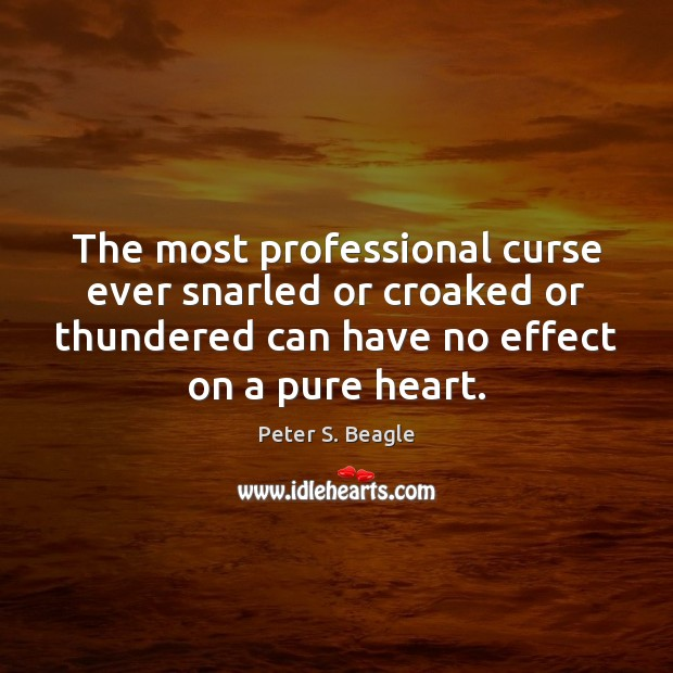Peter S. Beagle Picture Quote image saying: The most professional curse ever snarled or croaked or thundered can have
