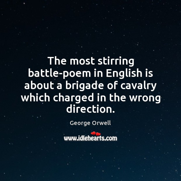 The most stirring battle-poem in English is about a brigade of cavalry Image