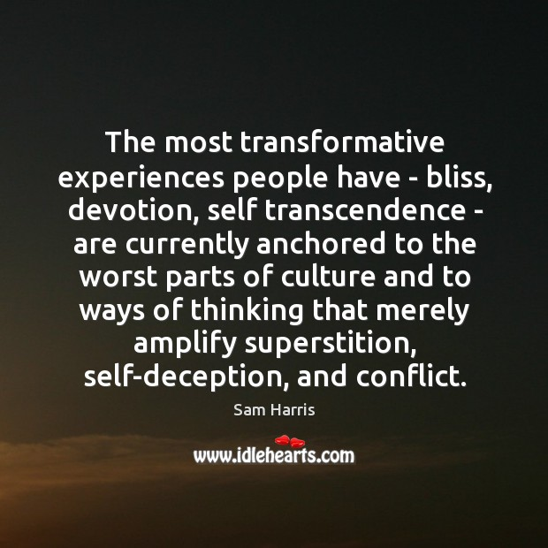 The most transformative experiences people have – bliss, devotion, self transcendence – Image