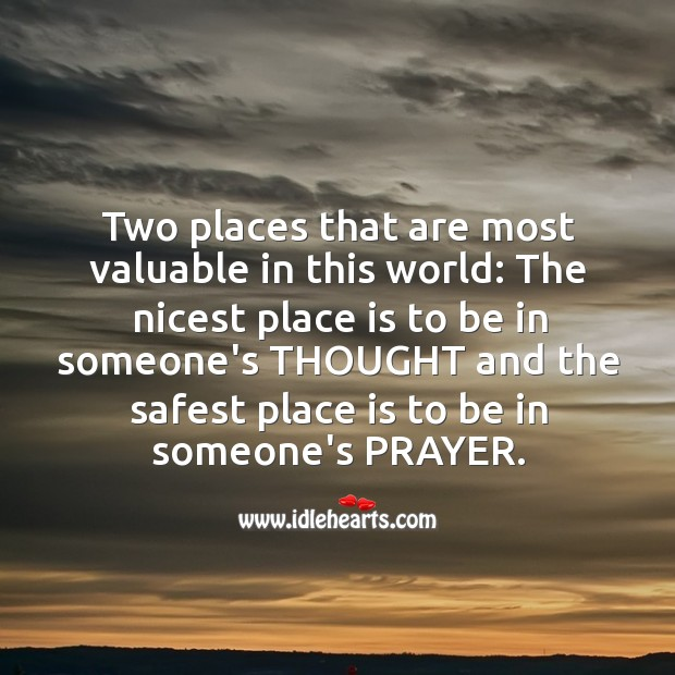The most valuable places in this world. Image