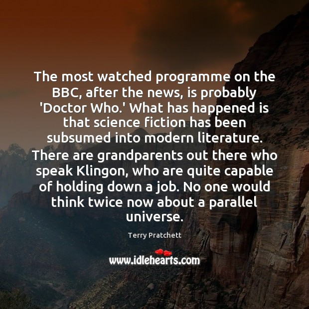 The most watched programme on the BBC, after the news, is probably Image