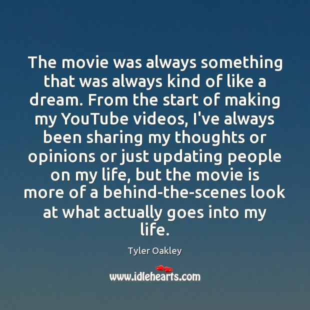 The movie was always something that was always kind of like a Image