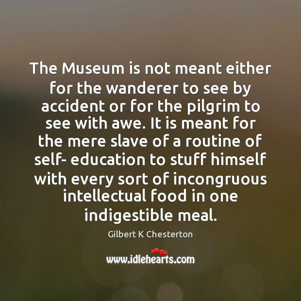 Image, The Museum is not meant either for the wanderer to see by