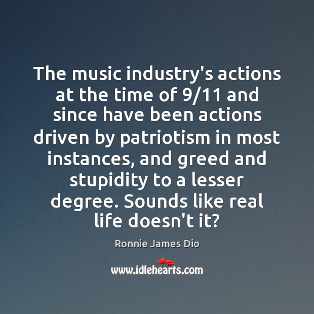 The music industry's actions at the time of 9/11 and since have been Image