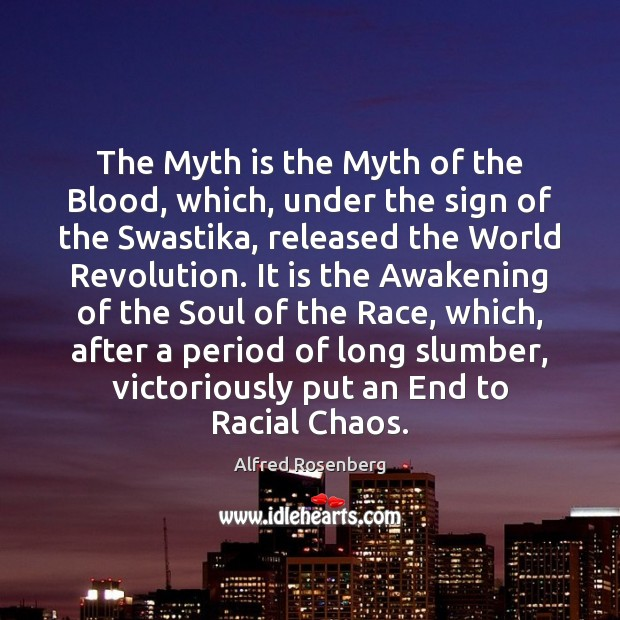 Image, The Myth is the Myth of the Blood, which, under the sign