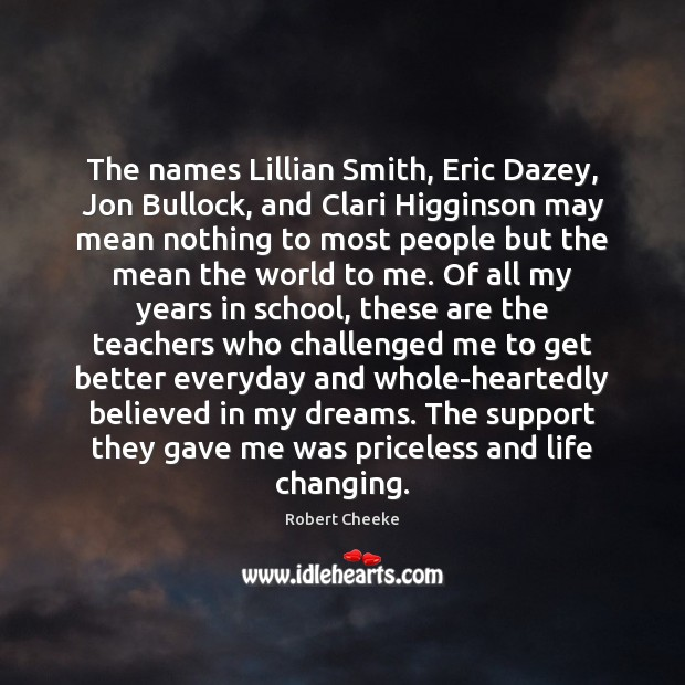The names Lillian Smith, Eric Dazey, Jon Bullock, and Clari Higginson may Image