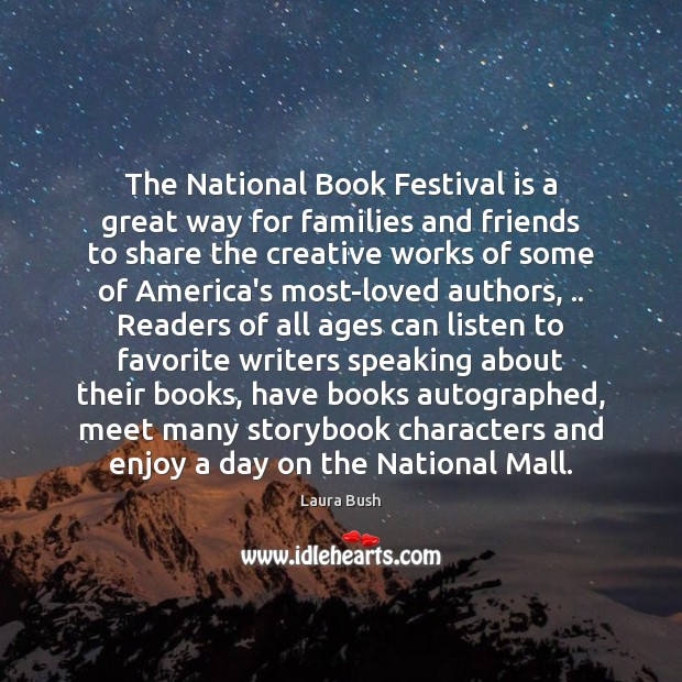 The National Book Festival is a great way for families and friends Image