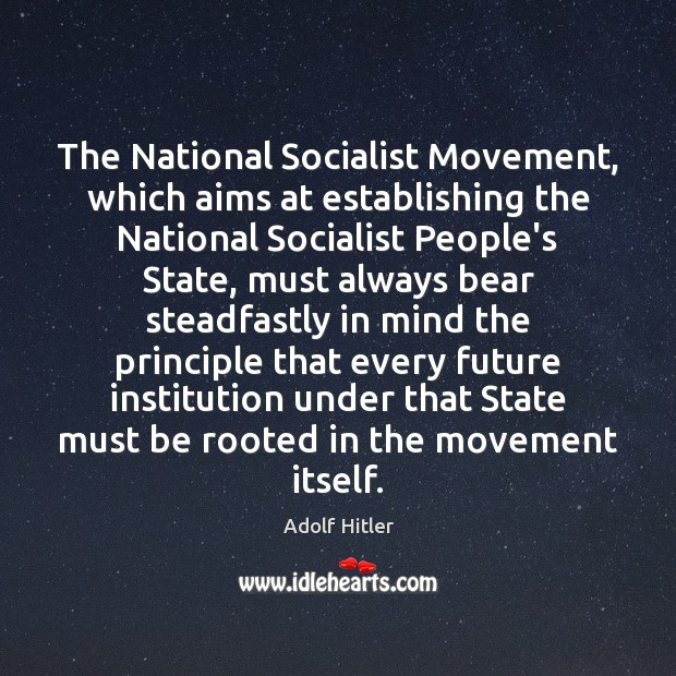 Image, The National Socialist Movement, which aims at establishing the National Socialist People's