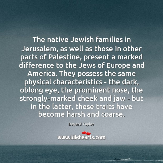 The native Jewish families in Jerusalem, as well as those in other Image