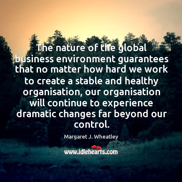 Image, The nature of the global business environment guarantees that no matter how hard