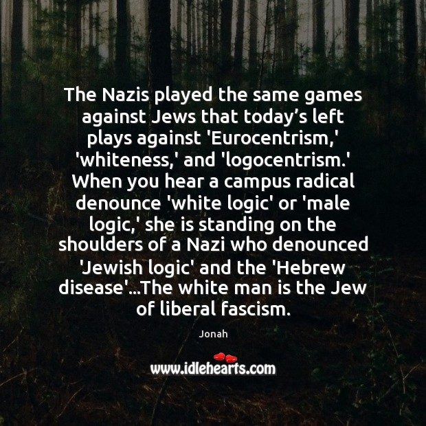The Nazis played the same games against Jews that today's left Image