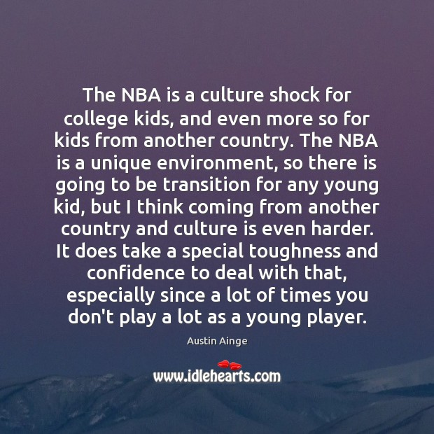 The NBA is a culture shock for college kids, and even more Image