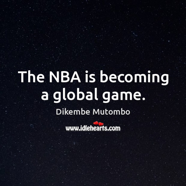The NBA is becoming a global game. Image