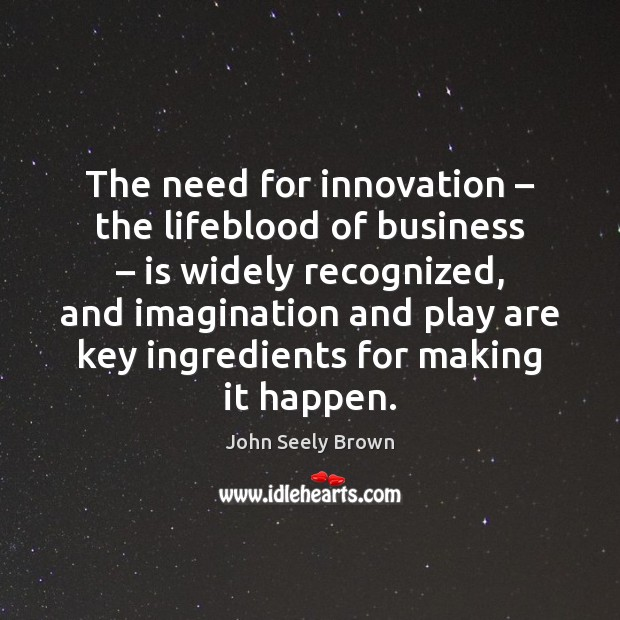 The need for innovation – the lifeblood of business – is widely recognized, and Image