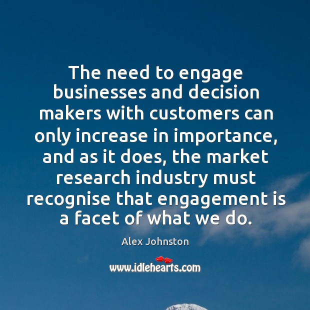 Image, The need to engage businesses and decision makers with customers can only