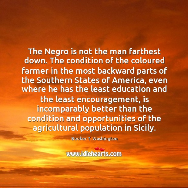 Image, The Negro is not the man farthest down. The condition of the