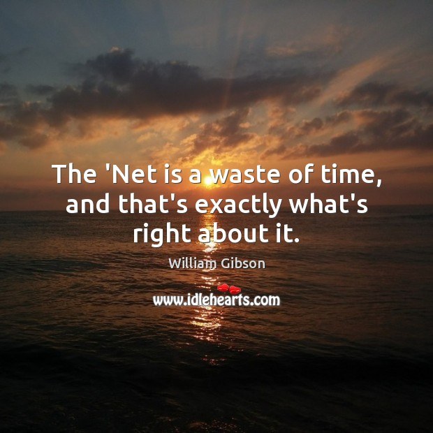 The 'Net is a waste of time, and that's exactly what's right about it. Image