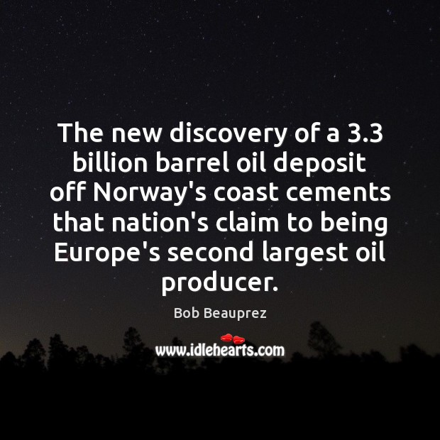 Image, The new discovery of a 3.3 billion barrel oil deposit off Norway's coast