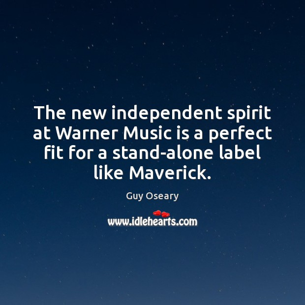 The new independent spirit at Warner Music is a perfect fit for Image