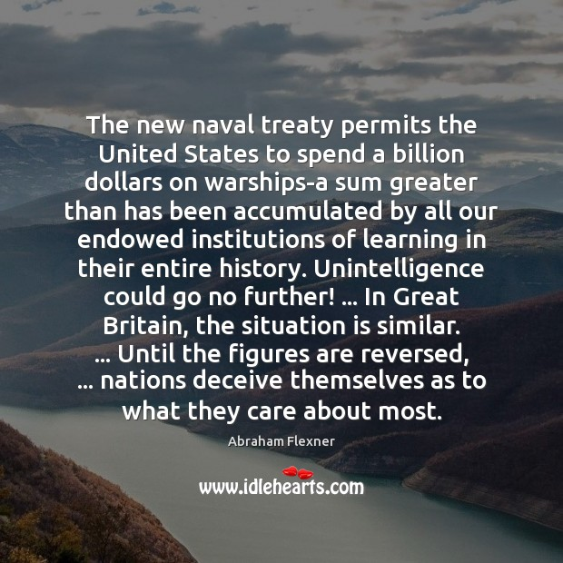 The new naval treaty permits the United States to spend a billion Image