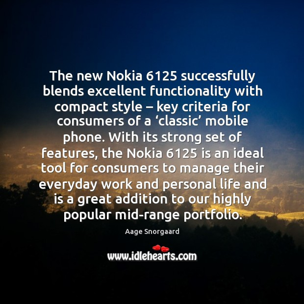 Image, The new nokia 6125 successfully blends excellent functionality