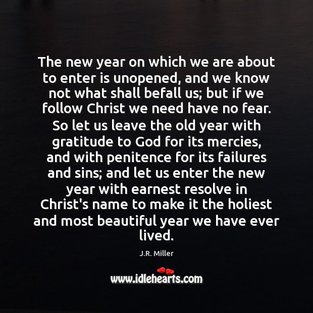 Image, The new year on which we are about to enter is unopened,