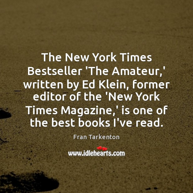 The New York Times Bestseller 'The Amateur,' written by Ed Klein, Image