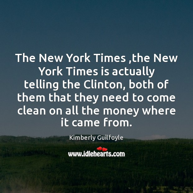 The New York Times ,the New York Times is actually telling the Image