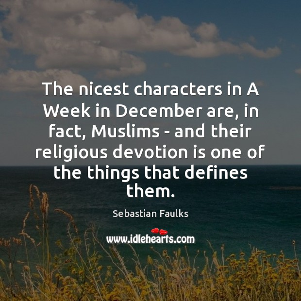 Image, The nicest characters in A Week in December are, in fact, Muslims