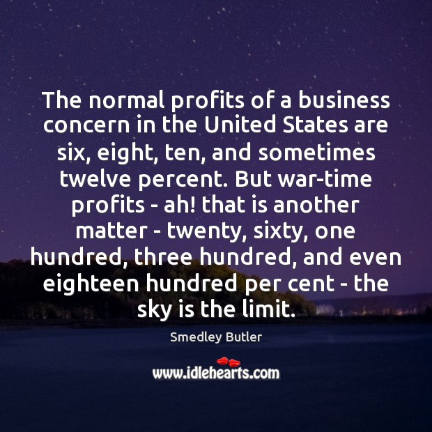 Image, The normal profits of a business concern in the United States are