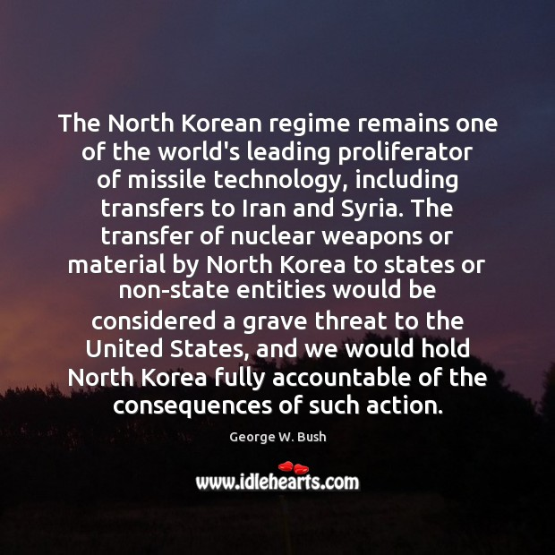 The North Korean regime remains one of the world's leading proliferator of Image