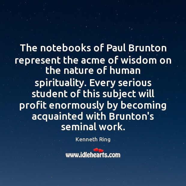 Image, The notebooks of Paul Brunton represent the acme of wisdom on the