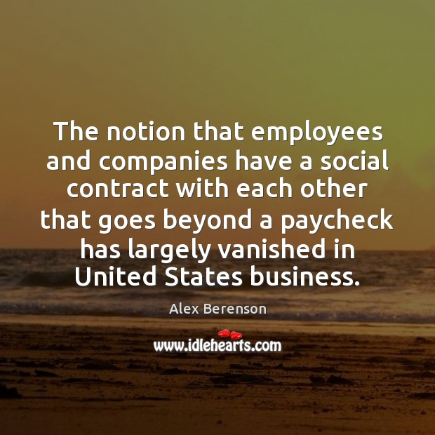 Image, The notion that employees and companies have a social contract with each