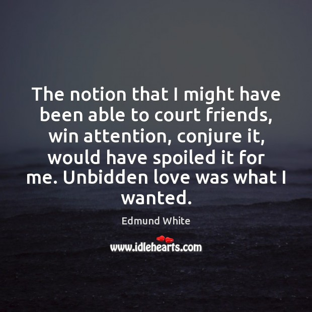 The notion that I might have been able to court friends, win Image