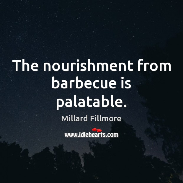 The nourishment from barbecue is palatable. Image