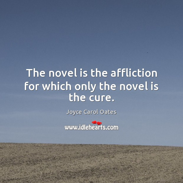 Image, The novel is the affliction for which only the novel is the cure.