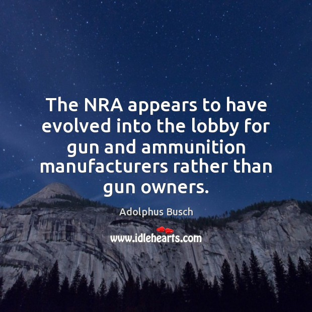Image, The NRA appears to have evolved into the lobby for gun and