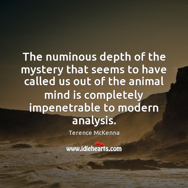The numinous depth of the mystery that seems to have called us Terence McKenna Picture Quote