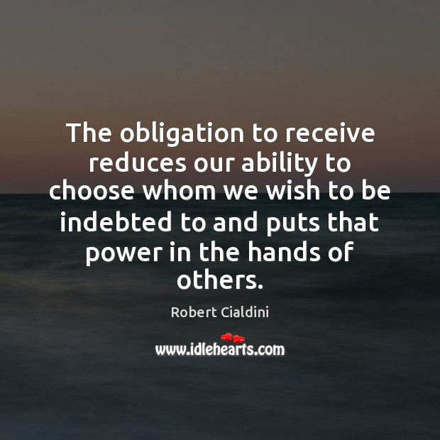 Image, The obligation to receive reduces our ability to choose whom we wish