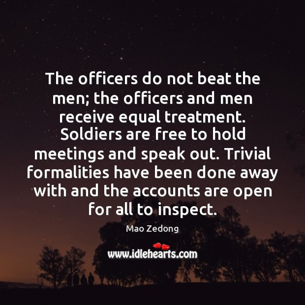 Image, The officers do not beat the men; the officers and men receive