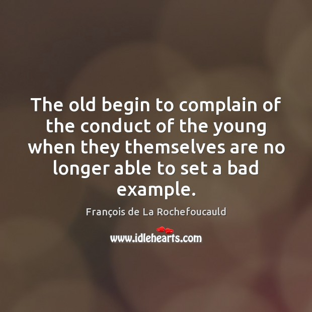 Image, The old begin to complain of the conduct of the young when