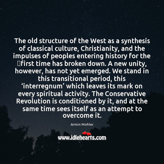 Image, The old structure of the West as a synthesis of classical culture,